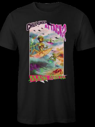 "Mass Mental T-Shirt ""Live at Lollapalooza Chile"" (schwarz)"