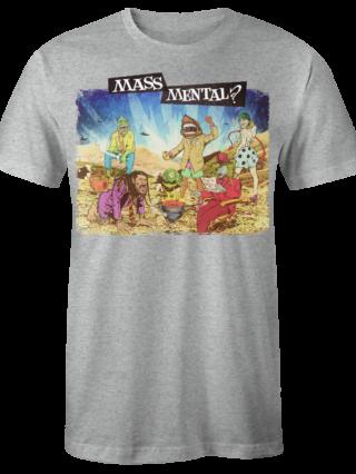 """Mass Mental T-Shirt """"Mass Mental"""" (grau mélange)"""