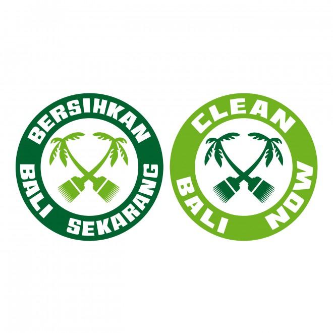 Clean Bali Now Logo auf Bahasa Indonesia und in English