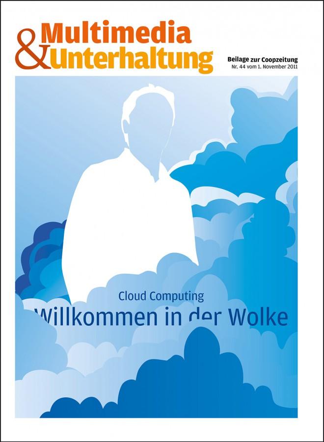 """Titelbild-Illustration für Cloud Computing Beilage """"Coop Zeitung"""""""